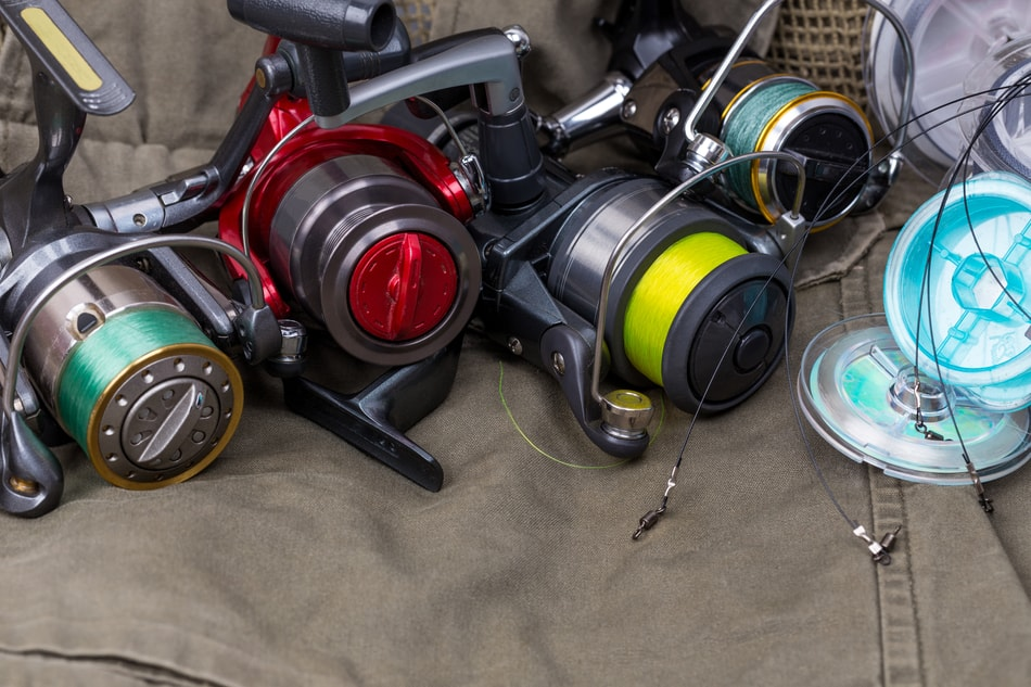 Fishing Reels Filled With Fishing Line