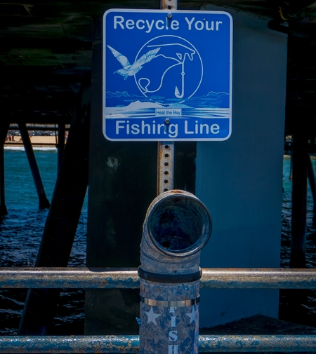 Fishing Line Recycling Station